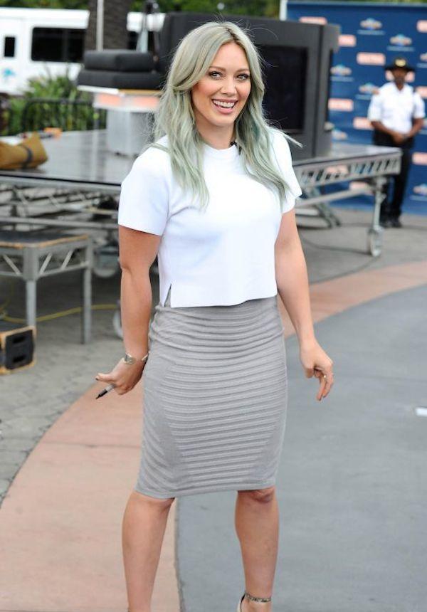 Hilary Duff - grey hair